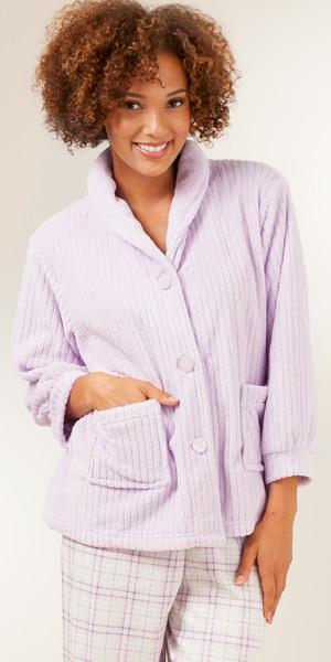 Plus Size Fleece Bed Jacket