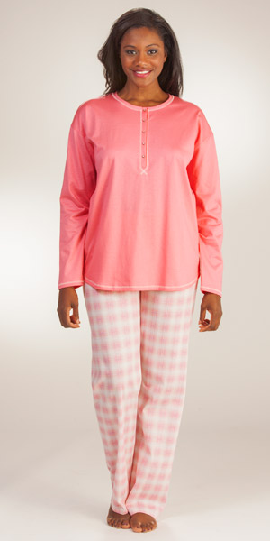 Calida Pajamas For Women 100 Cotton Knit Pink Pjs By Calida